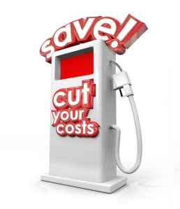 Save and Cut Your Costs gas station filling fuel pump miles per