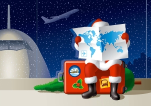 Santa's Christmas travel