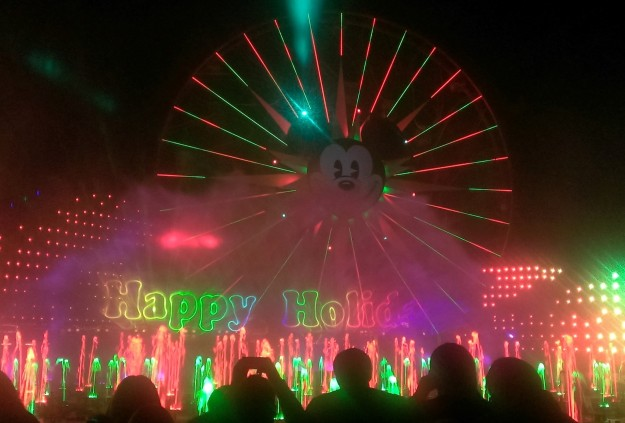 I took lots of photos during this special edition of World of Color, including a video of the Toy Story Nutcracker portion, but had to share the lovely ending.