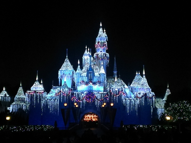 What would the holidays be without a winter makeover for Sleeping Beauty's Castle?