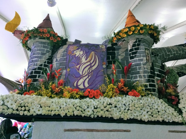 The details that can be created on these floats using seeds, beans, and dried flower petals are incredible.