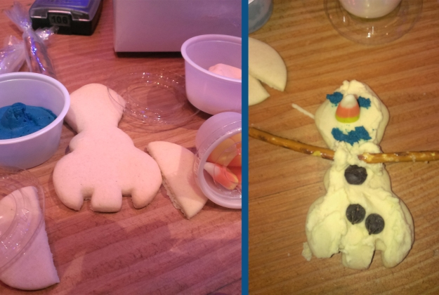 We couldn't resist building a snowman... and then eating it!