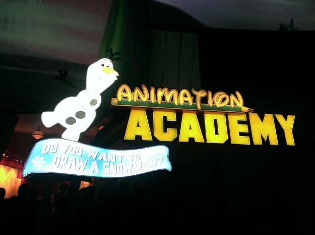 Learn to draw Olaf at the Animation Academy