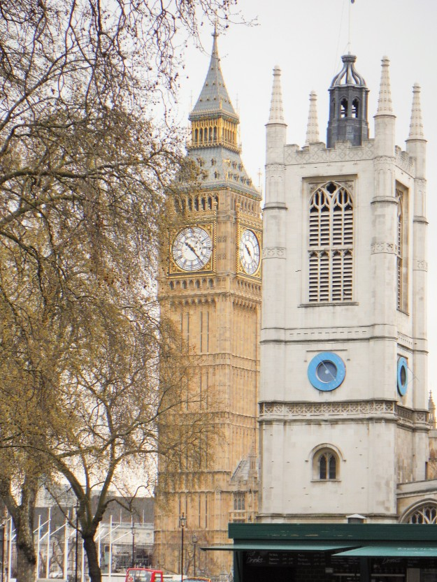 Big Ben as seen from Westminster Abbey