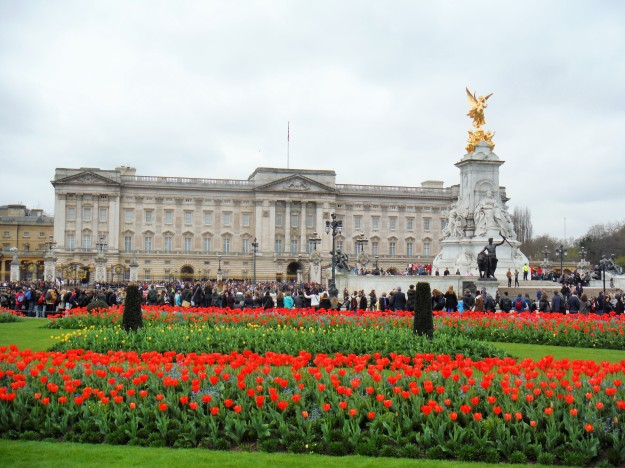 Buckingham Palace - Notice the crowd waiting for the Changing of the Guard