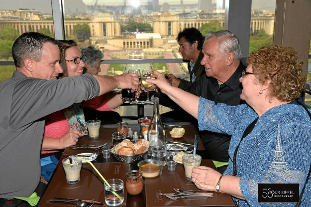 We had lunch at 58 Tour Eiffel, a restaurant in the tower with gorgeous views. Of course, as this was my parents' 50th wedding anniversary, we also had to toast to them!