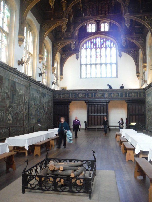 I just love it when one is allowed to take photos inside. Can't you just picture Henry VIII eating his dinner with his court in this Great Hall?