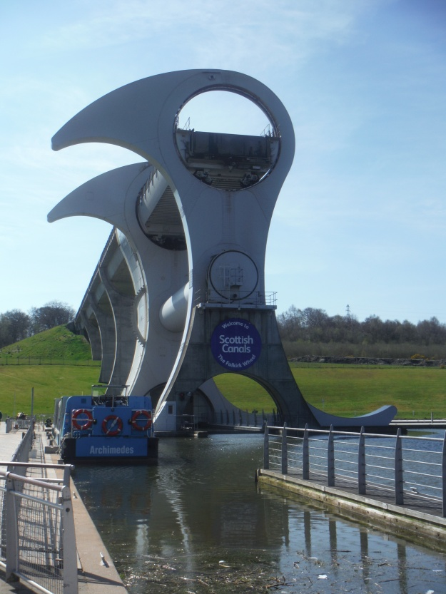 After leaving Stirling Castle, we drove to Falkirk to see the Falkirk Wheel.
