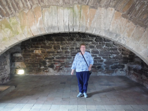 One of the more impressive parts of the castle to me was the kitchen. Here is the massive fireplace where they would have done much of the cooking.