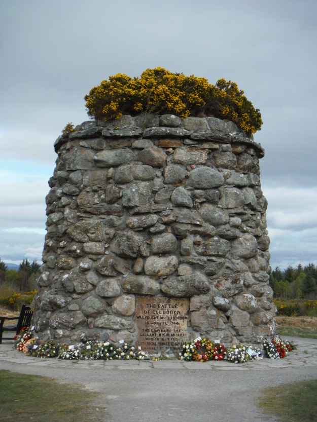 "One of the few times I teared up during our trip was on our visit to Culloden. I've visited many battlefields in my travels, but I think it's in knowing the aftermath of this battle that affected me most. While many men died in this very short battle, more died after. From the blog Scottish Adventure,* ""After the Battle at Culloden, the British King decided that once and for all he would rid his empire of the Scots (man, women and children) who dared threaten his crown and exclusive rule.  He directed Cumberland and his army to hunt down everyone that survived the Battle at Culloden — and annihilate them.  All ""Jacobite"" sympathizers were to be sought out and exterminated.  His forces pursued this policy with a ruthless abandonment and it is believed that many Scots — who truly had nothing to do with Culloden— also paid the final penalty of death.  The atrocities that followed so shamed the government, that to this day no British Regiment bears Culloden as a battle honor.  No one was left alive on the battlefield.  Cumberland's troops were told to kill all that moved."""