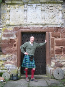 The Earl of Cromarty, photo from the Castle Leod website. Yes, he was wearing a kilt on the day we visited.