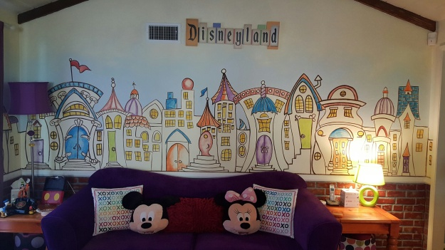 Even the living room makes you remember that you are staying near the Happiest Place on Earth.