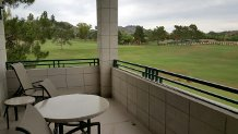 Our staycation at the Arizona Biltmore came with a great view. This was the balcony for our room.