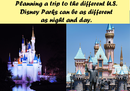 6 Months vs 60 Days - Planning a trip to the different U.S. Disney Parks can be as different as night and day.