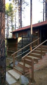 A cabin at Friendly Pines camp near Prescott, Arizona