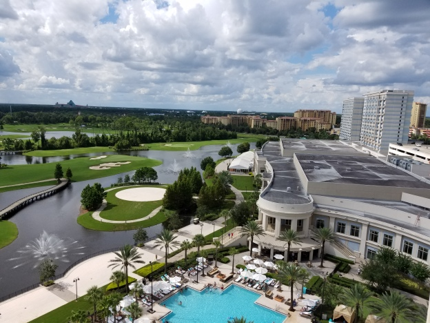 Want this view? Check out my review of the Waldorf Astoria Orlando.