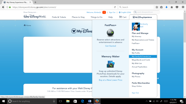 Planning a Walt Disney World Vacation in My Disney Experience
